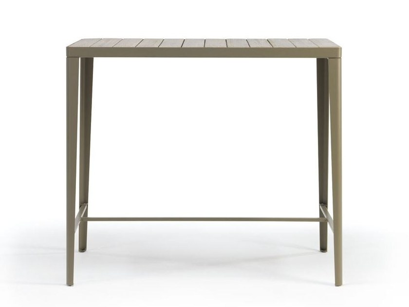 Rectangular teak high table LAREN | High table - Ethimo