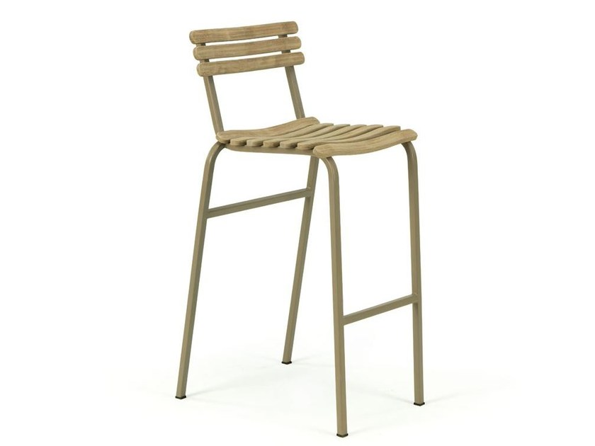Counter stool with footrest LAREN | Counter stool - Ethimo