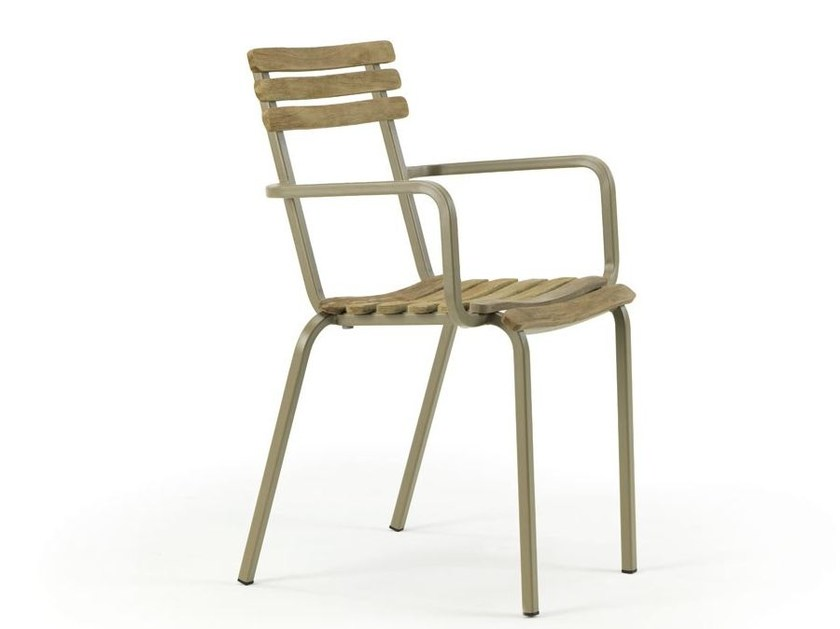 Teak garden chair with armrests LAREN | Chair with armrests - Ethimo