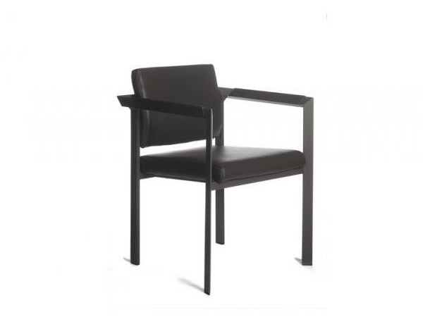 Upholstered chair with armrests LARGO | Chair - Joli