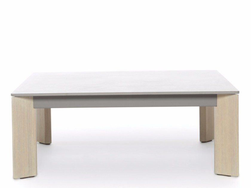 Low square coffee table LARGO WOOD | Low coffee table - Joli