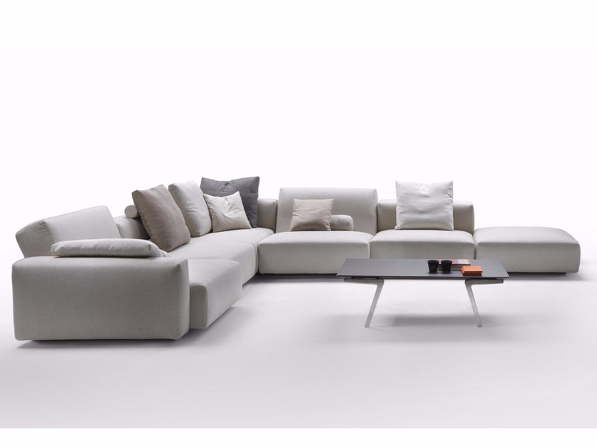 Corner sectional sofa with removable cover LARIO 88 2016 - FLEXFORM