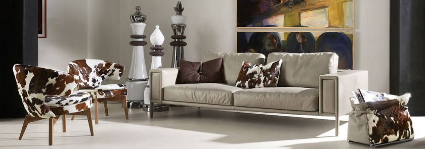 Contemporary style upholstered leather armchair LARISSA | Upholstered armchair - ITALY DREAM DESIGN - Kallisté
