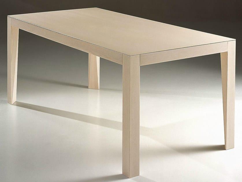 Rectangular wooden table LASER - IFT
