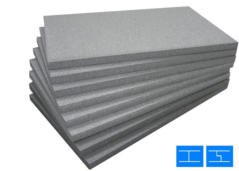 Graphite-enhanced EPS thermal insulation panel LASTRE GREYPACK | Graphite-enhanced EPS thermal insulation panel - RE.PACK