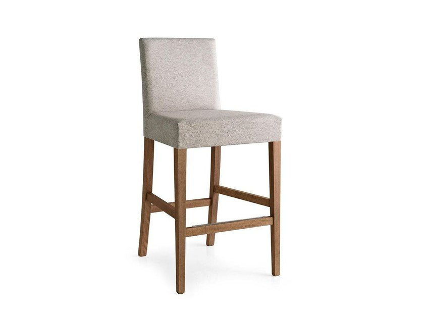 Counter stool with footrest LATINA | Counter stool - Calligaris