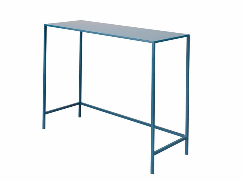 Rectangular steel console table LAUREN - AZEA