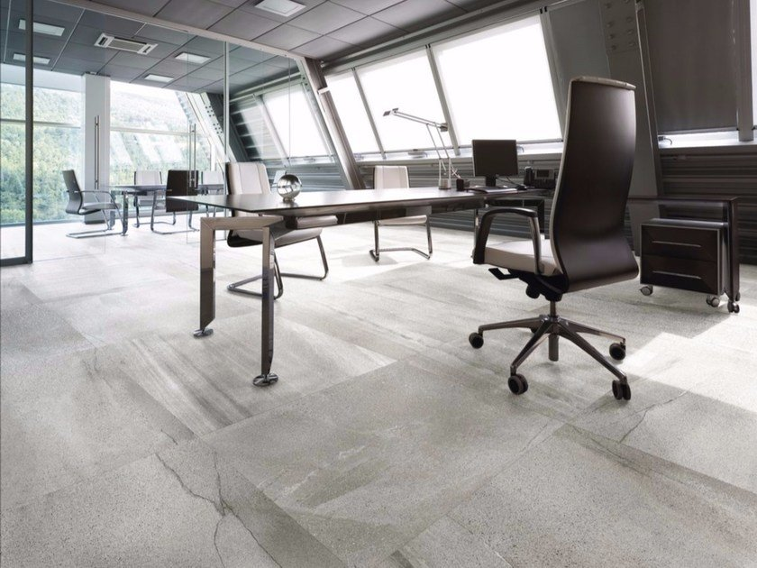 Indoor/outdoor porcelain stoneware flooring with stone effect LAVICA GREY | Flooring - FMG Fabbrica Marmi e Graniti