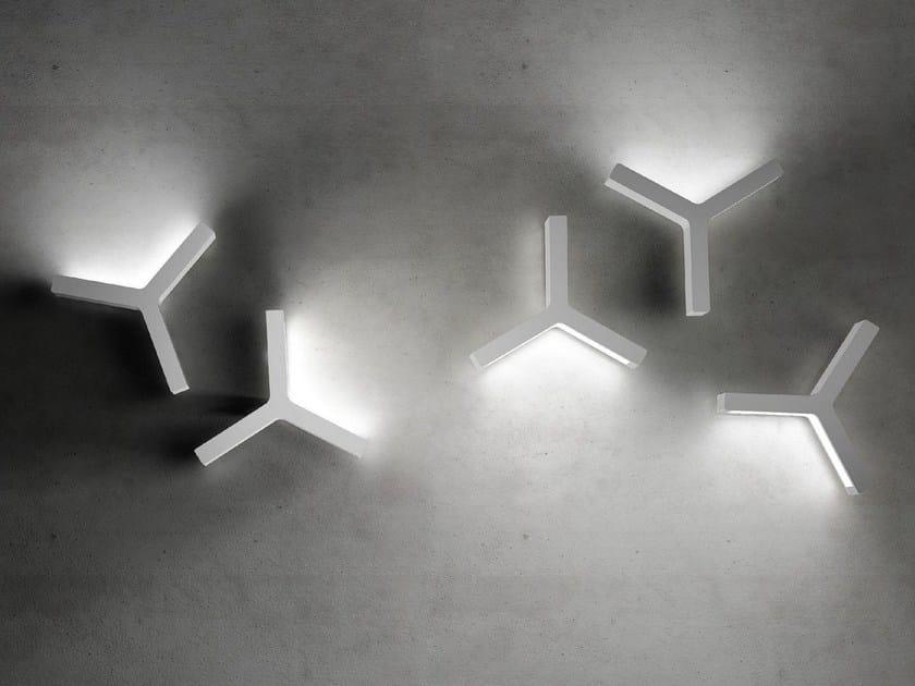 LED indirect light wall light LAYPSILON - Olev by CLM Illuminazione