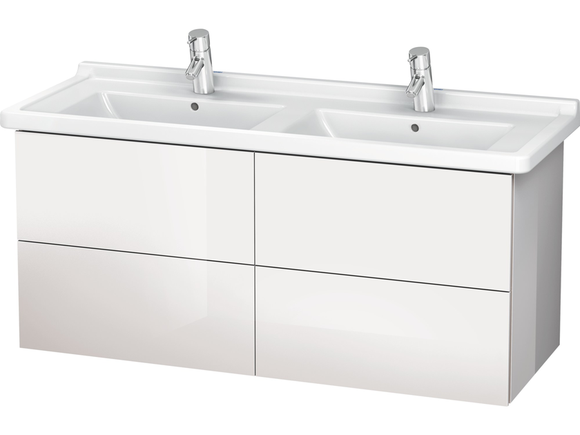 Wall-mounted vanity unit with drawers LC 6269 | Double vanity unit by Duravit