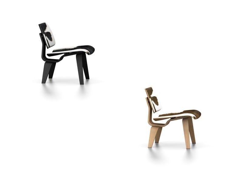 Calfskin chair LCW CALF'S SKIN by Vitra