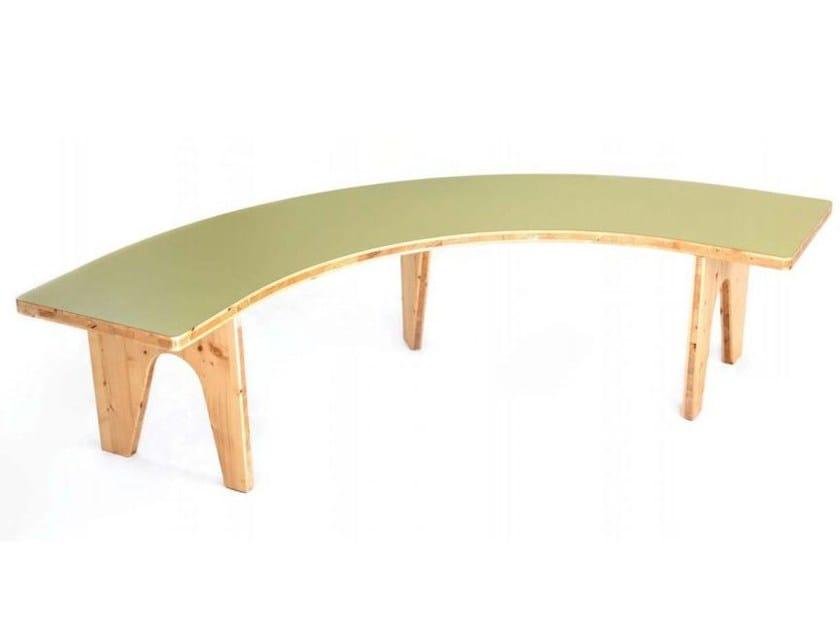 Modular wooden bench LE HASARD | Bench - smarin