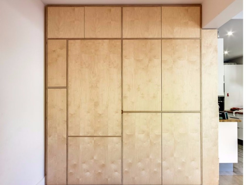 Built-in multi-layer wood wardrobe LE MURAL - MALHERBE EDITION