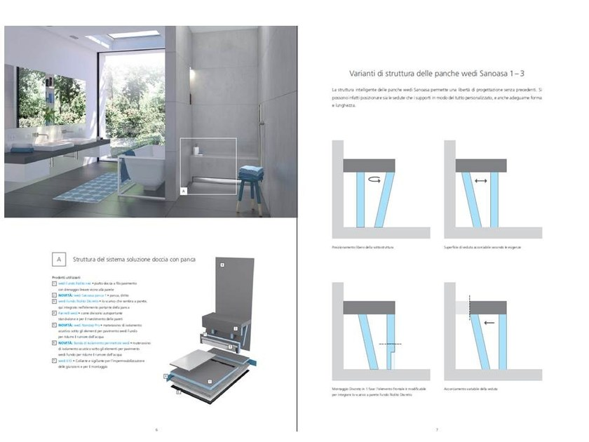 Modular spa bench LE NUOVE PANCHE SANOASA 1, 2 ,3 - Wedi Italia