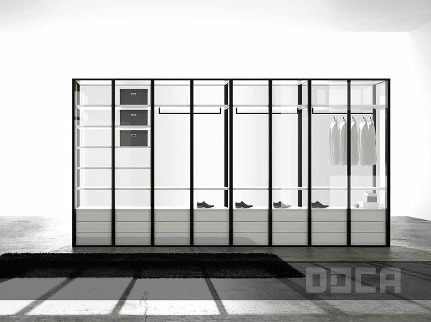 Glass wardrobe LEACH TRANSPARENTE - Doca