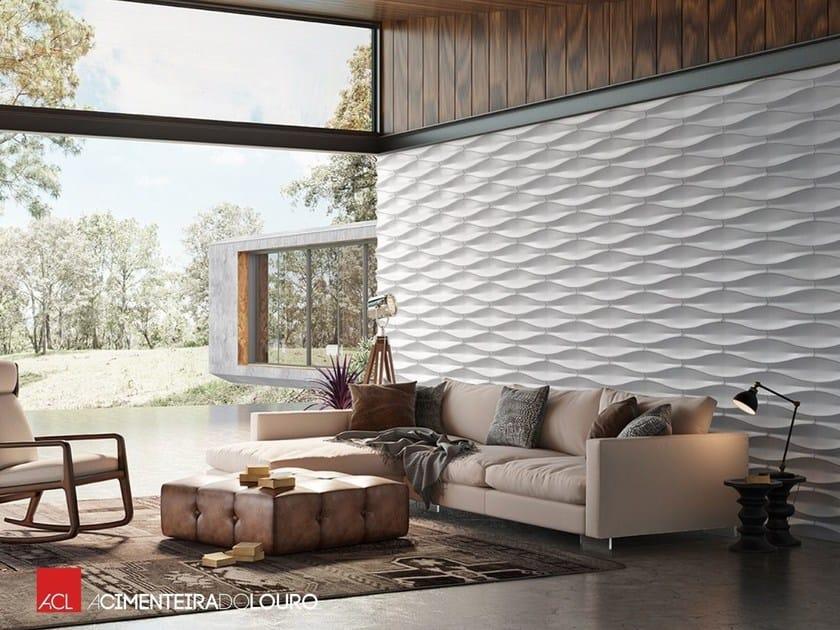 rev tement mural 3d pour int rieur ext rieur leaf by a cimenteira do louro. Black Bedroom Furniture Sets. Home Design Ideas