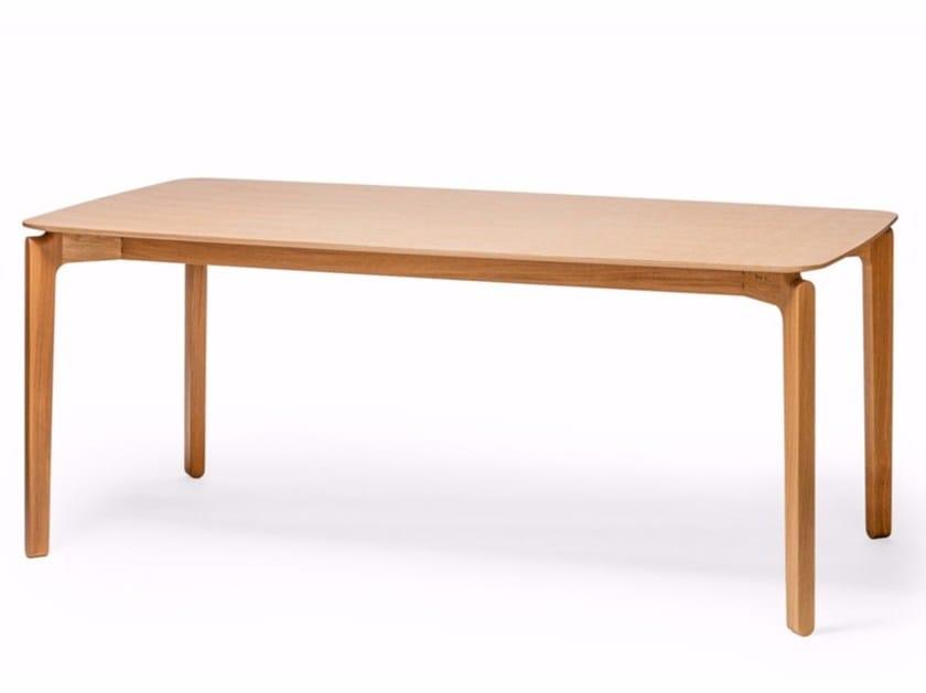 Tavolo rettangolare in legno LEAF | Tavolo rettangolare by TON