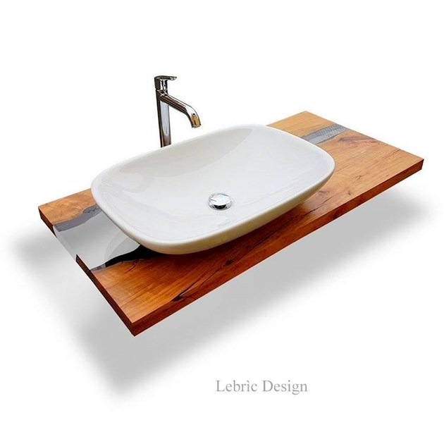 encimera de lavabo de madera lebrc design madera y resina mueble bajo lavabo de