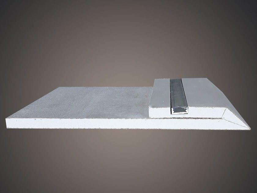 Ceiling mounted gypsum lighting profile LED 013 by Profilgessi