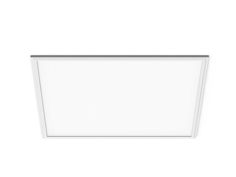 Recessed aluminium ceiling light LED PANEL Q by LANZINI