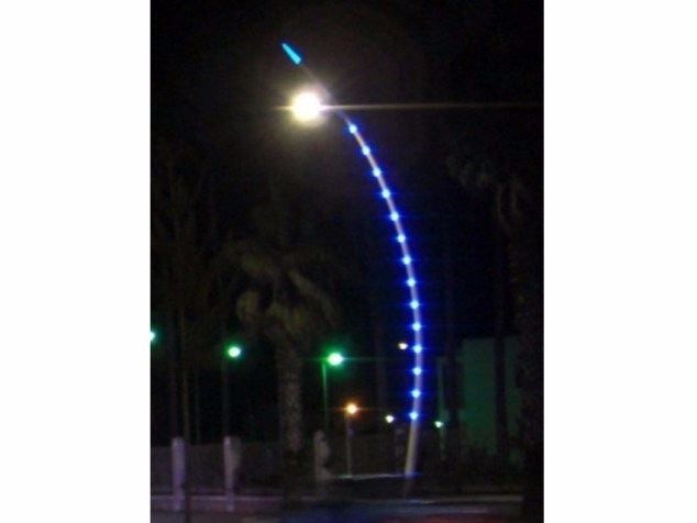 LED brass street lamp LED SPOTLIGHT - CASCADE