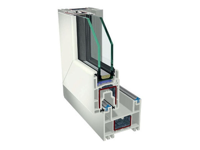 PVC double glazed window LEGGERO 4D - PIVA GROUP
