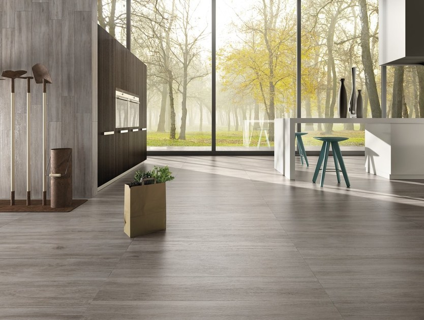 Porcelain stoneware flooring with wood effect LEGNI HIGH-TECH | Rovere Cenere by ARIOSTEA