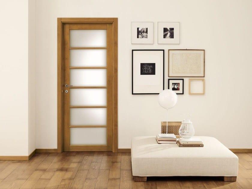Wood and glass door LEGNI & LACCHE - LEGNOFORM
