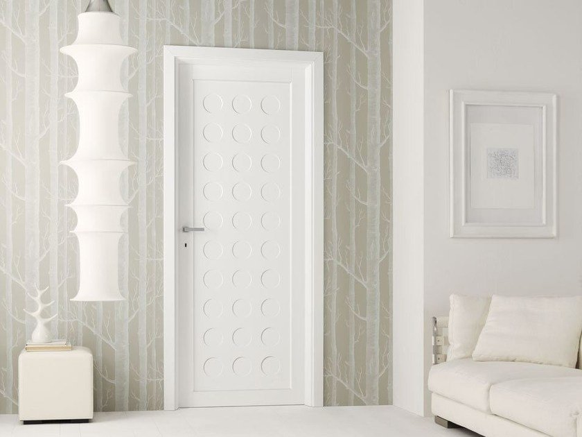 Lacquered solid wood door LEGNI & LACCHE - LEGNOFORM