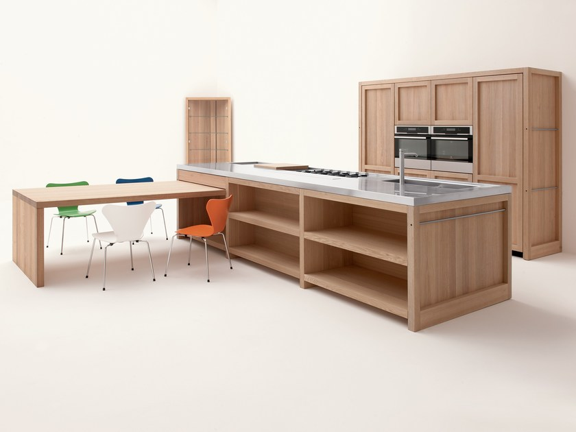 Oak kitchen with island LEGNO VIVO by GD Arredamenti