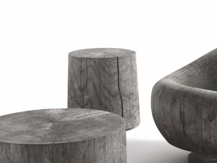 Cedarwood stool / coffee table LEGNO VIVO OUTDOOR - Riva 1920
