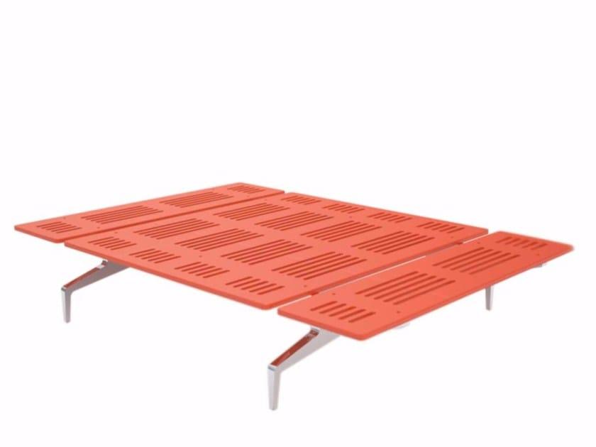 Aluminium and wood bed LEGNOLETTO 120 - LL0_120 - Alias