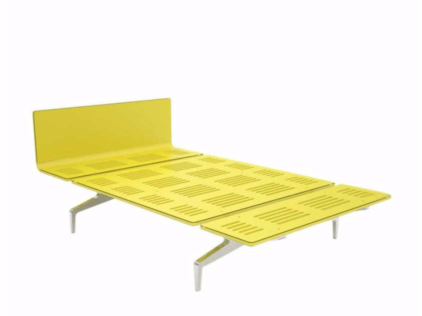 Aluminium and wood bed LEGNOLETTO 120 - LL3_120 - Alias