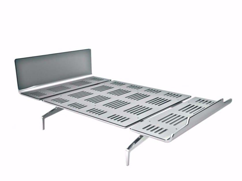 Aluminium and wood bed LEGNOLETTO 120 - LL4_120 - Alias