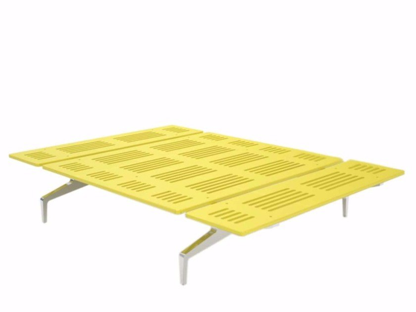 Aluminium and wood bed LEGNOLETTO 140 - LL0_140 - Alias
