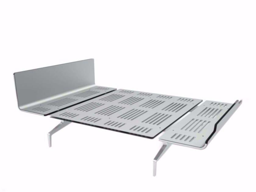 Aluminium and wood bed LEGNOLETTO 140 - LL4_140 - Alias