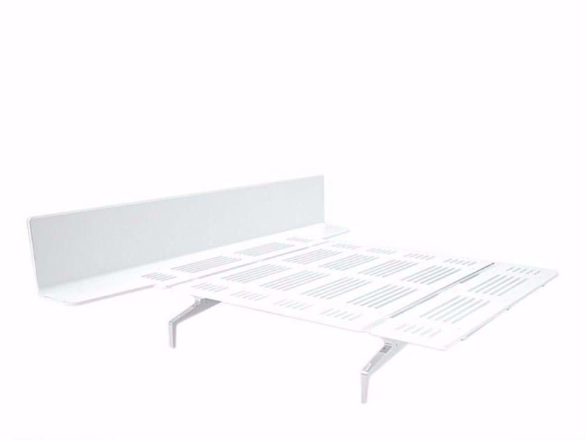 Aluminium and wood double bed LEGNOLETTO 160 - LL8_160 - Alias