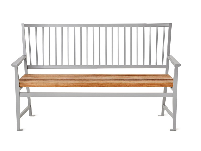 Die cast aluminium Bench with back LEKSAND by Nola Industrier