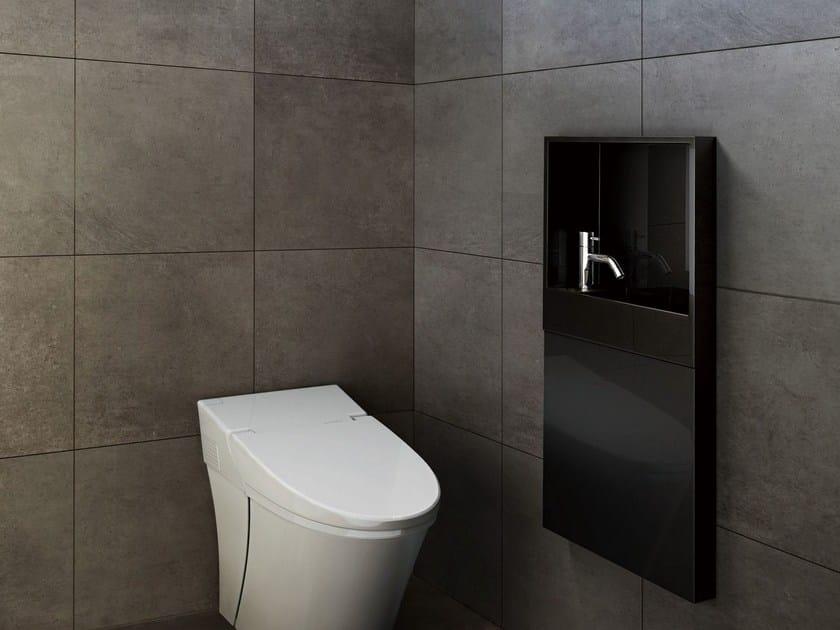 Rectangular marble handrinse basin LEPTO INWALL by Sanwa Company