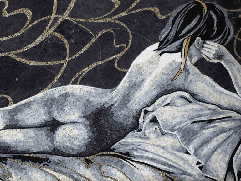 Marble mosaic LES DEMOISELLES by Lithos Mosaico Italia