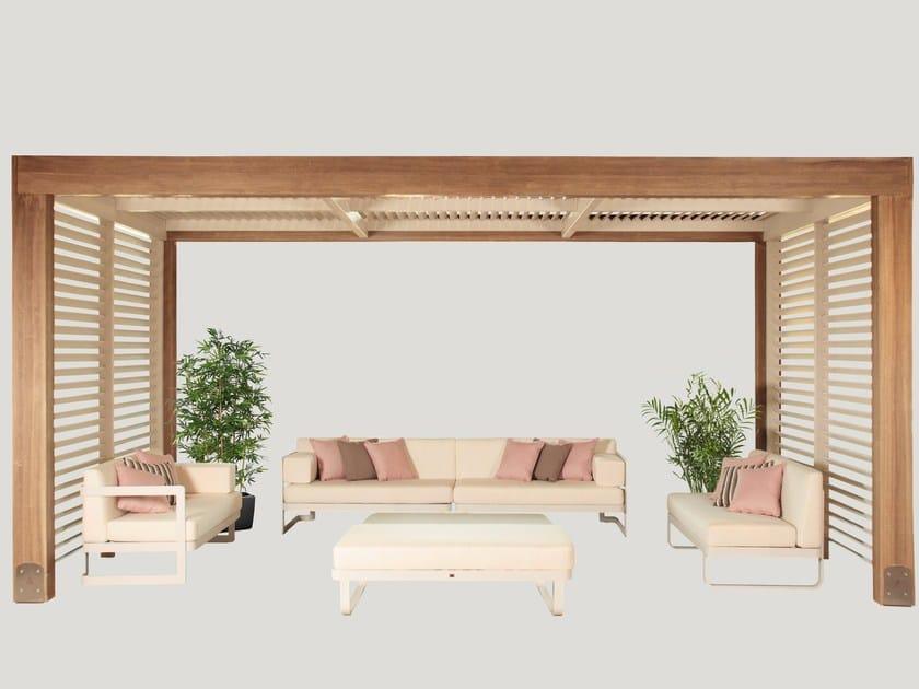 Pergolato in legno lamellare LEVANTE - Progettoelleci by Lo Castro