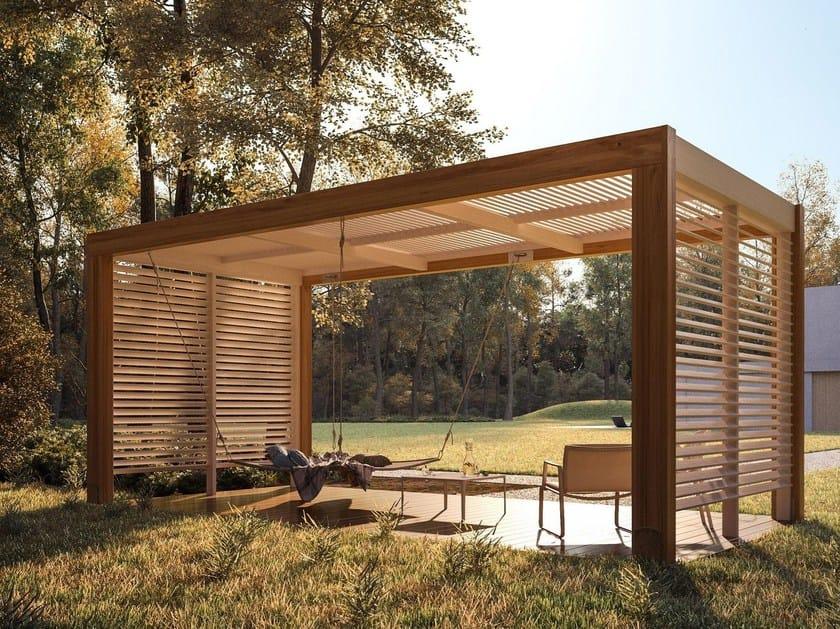 Laminated wood pergola LEVANTE by Progettoelleci
