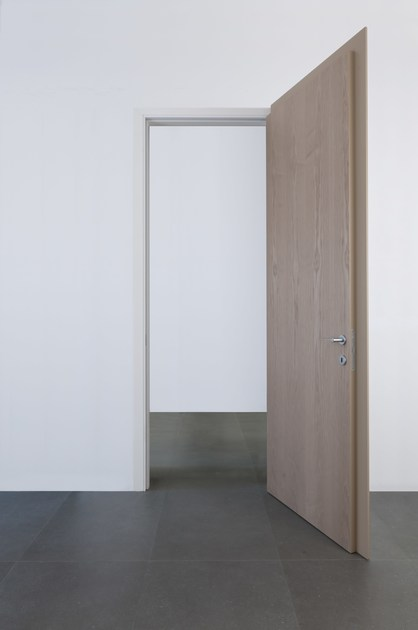 Hinged lacquered ash door LEVEL LV-100 - ALBED by Delmonte
