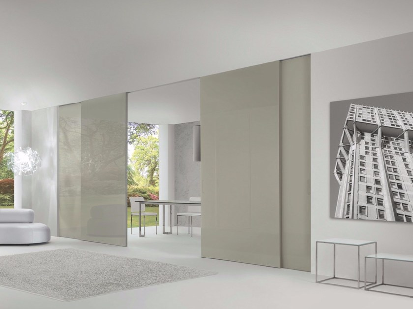 Glass and aluminium sliding door LEVIA | Sliding door - RES
