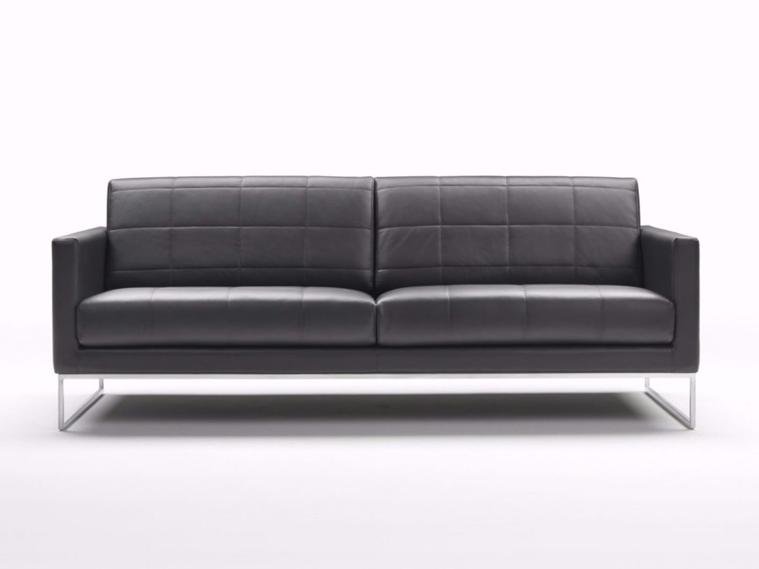 3 seater leather sofa LEWIS QUILTED by Marelli