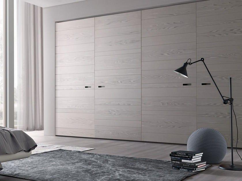 Wooden wardrobe with coplanar doors custom LEXINGTON | Wooden wardrobe - MisuraEmme