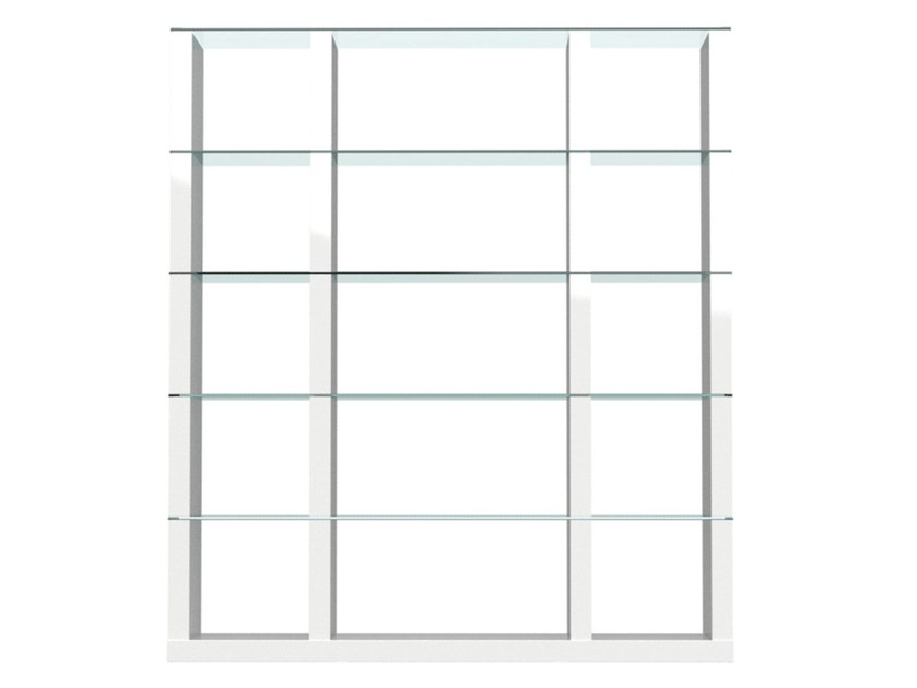 Open freestanding divider bookcase LIB   Double-sided bookcase - Calligaris