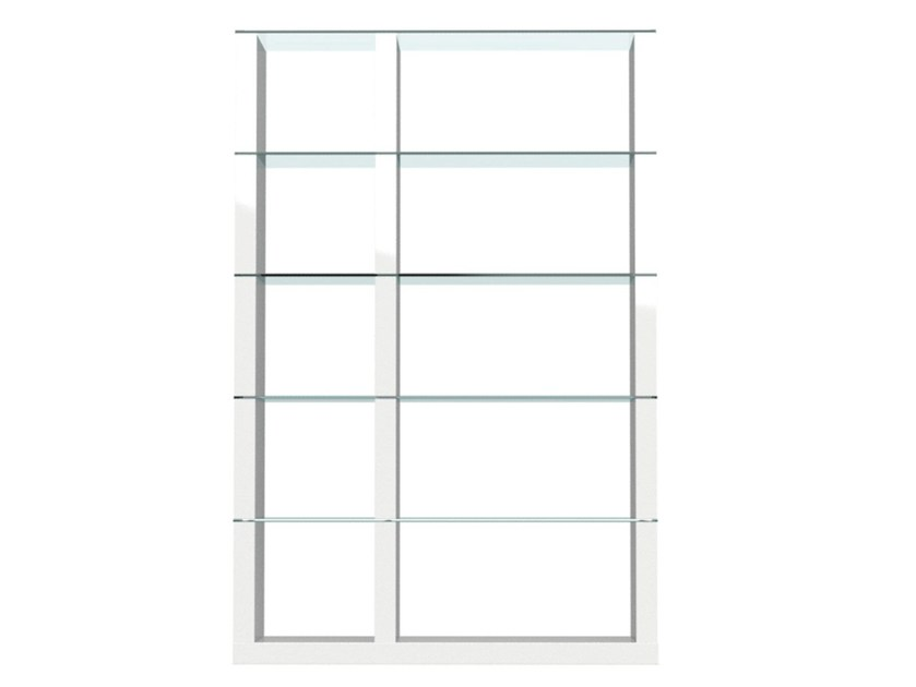 Freestanding double-sided divider bookcase LIB | Open bookcase - Calligaris