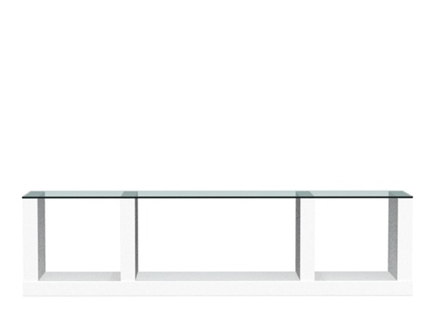 Wood and glass bookcase / TV cabinet LIB | Wood and glass bookcase - Calligaris