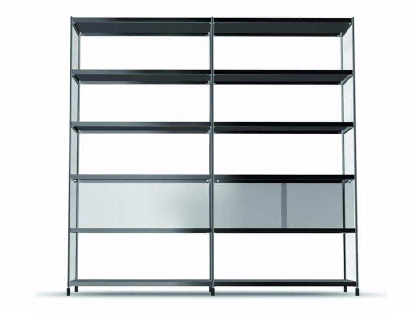 Open sectional modular bookcase LIB003 - SEC_lib003 by Alias